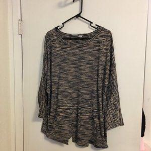 Cato Woman Stretch Knit Tunic Top Size 22/24W